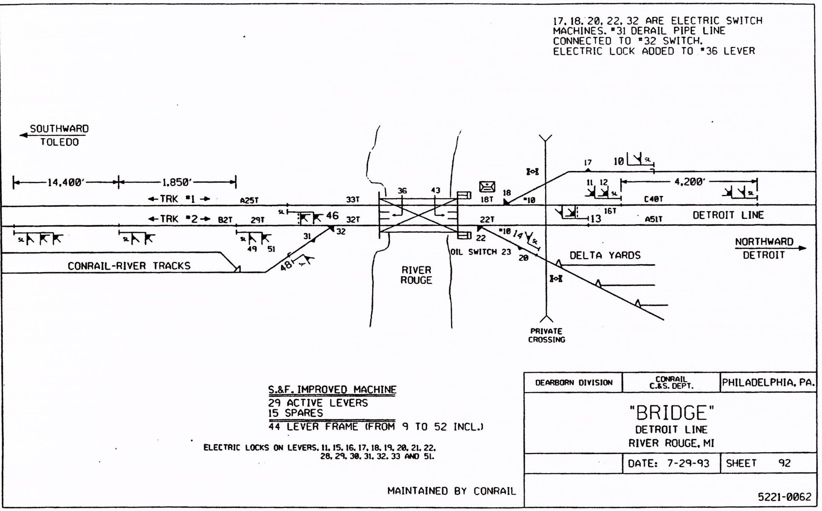 Conrail Bridge Track Diagram