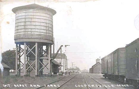 GTW Coopersville depot and water tower