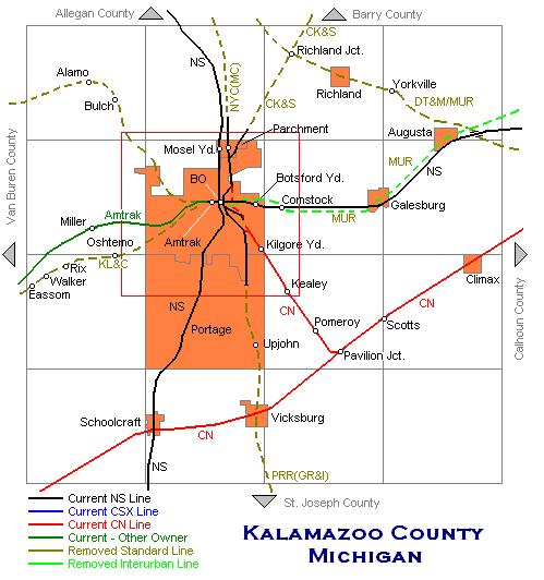 Kalamazoo County Map